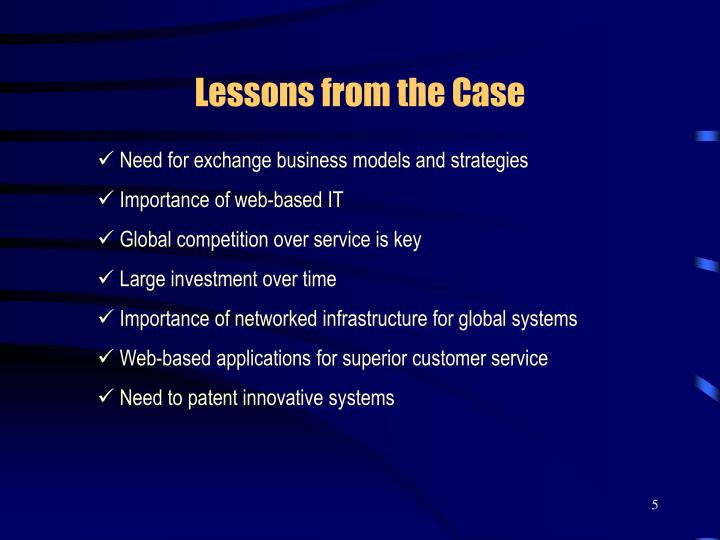 Lessons from the Case