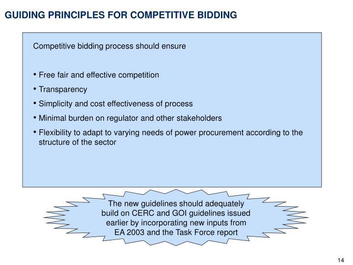 GUIDING PRINCIPLES FOR COMPETITIVE BIDDING