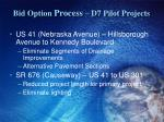 bid option process d7 pilot projects1