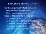 bid option process why1