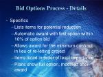 bid options process details1