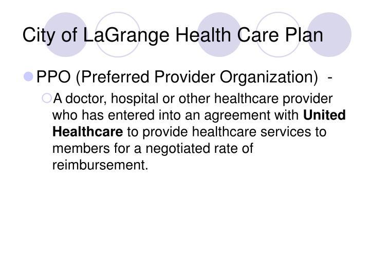 City of LaGrange Health Care Plan