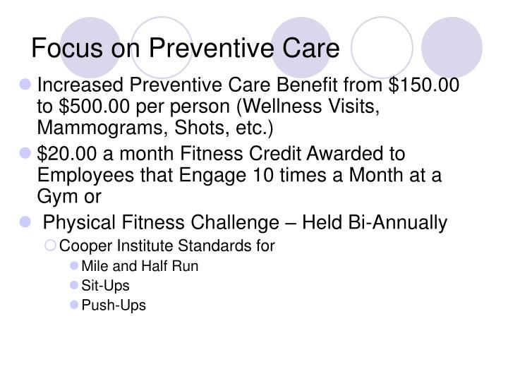 Focus on Preventive Care