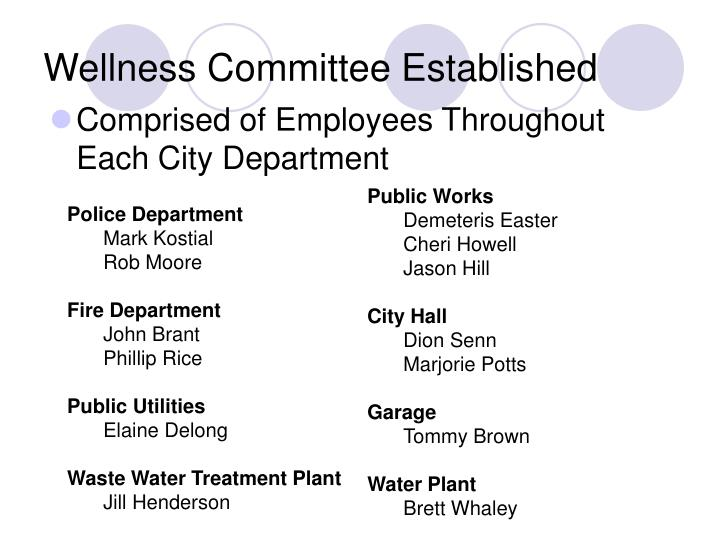 Wellness Committee Established