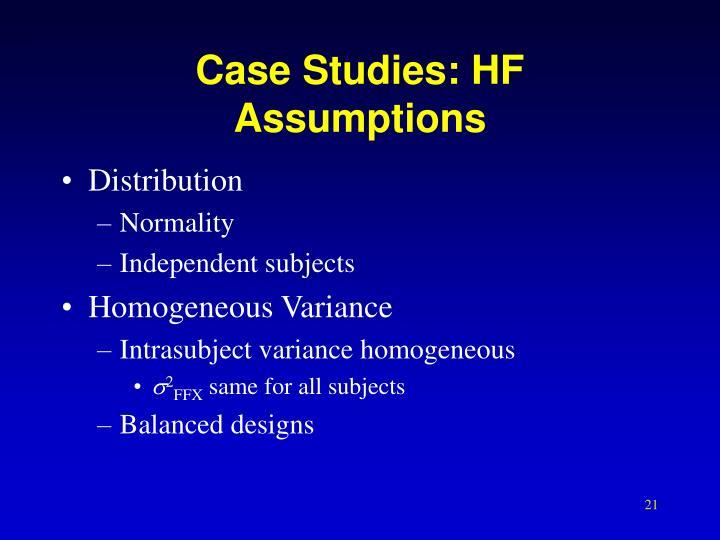 Case Studies: HF