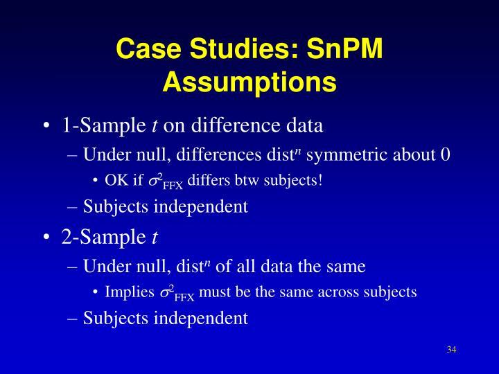 Case Studies: SnPM