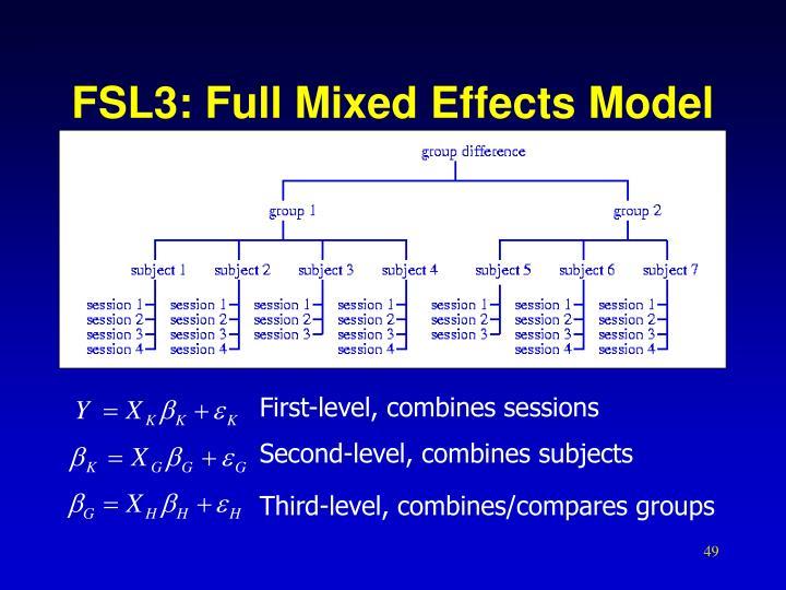 FSL3: Full Mixed Effects Model