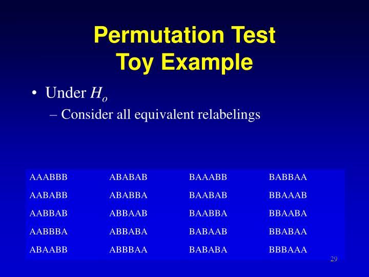 Permutation Test