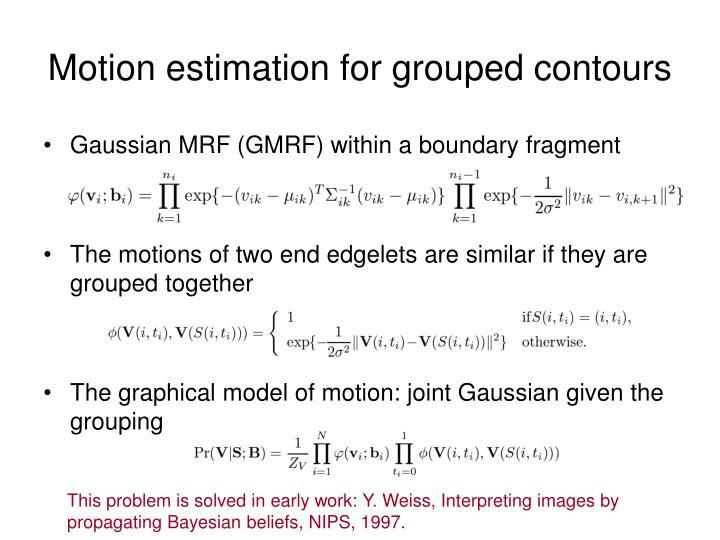 Motion estimation for grouped contours