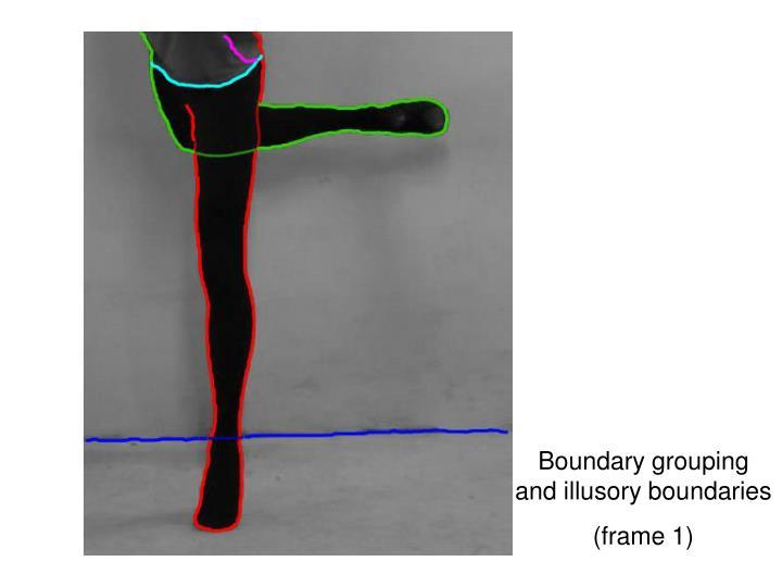 Boundary grouping and illusory boundaries