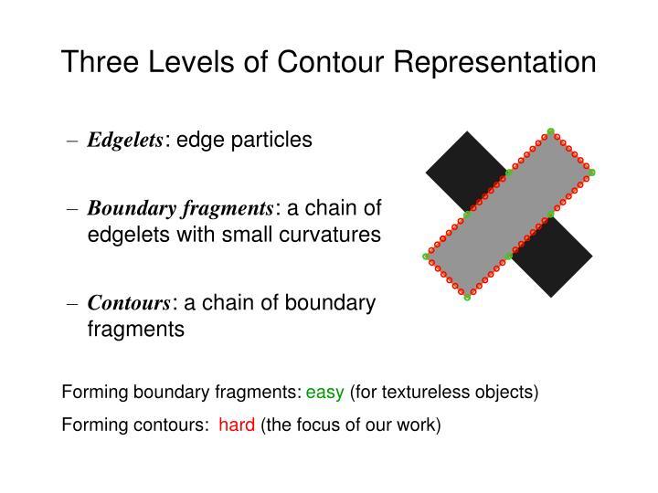 Three Levels of Contour Representation