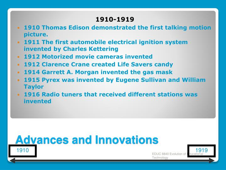 Advances and Innovations