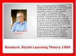 bandura social learning theory 1969
