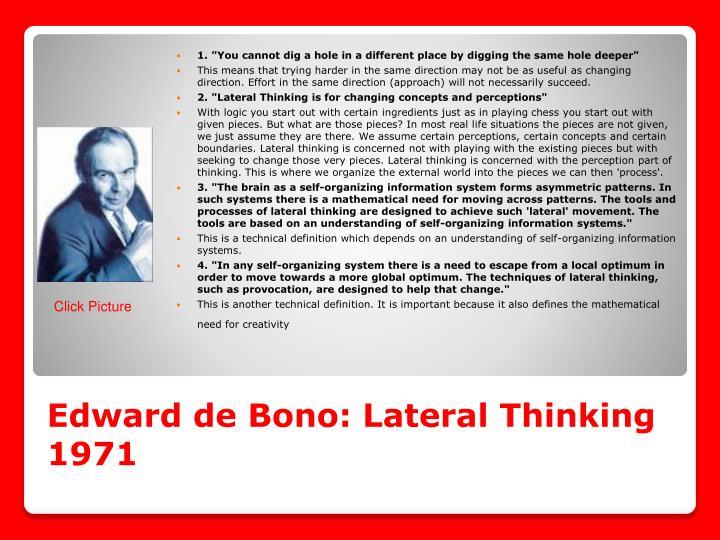 Edward de Bono: Lateral Thinking 1971