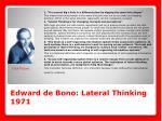 edward de bono lateral thinking 1971