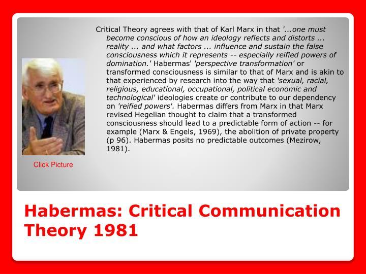 Habermas: Critical Communication Theory 1981