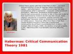habermas critical communication theory 1981