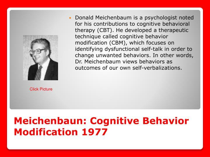 Meichenbaun: Cognitive Behavior Modification 1977