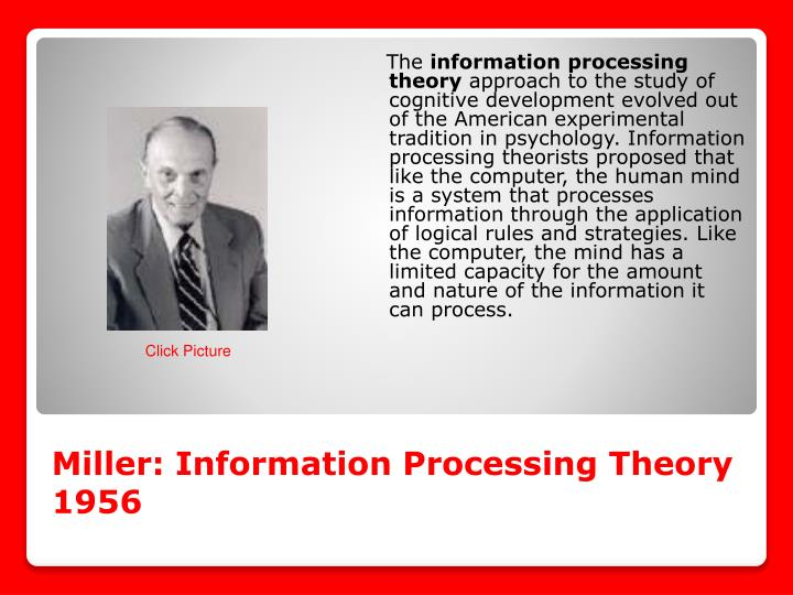 Miller: Information Processing Theory 1956