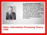 miller information processing theory 1956