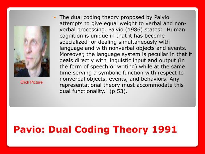 Pavio: Dual Coding Theory 1991