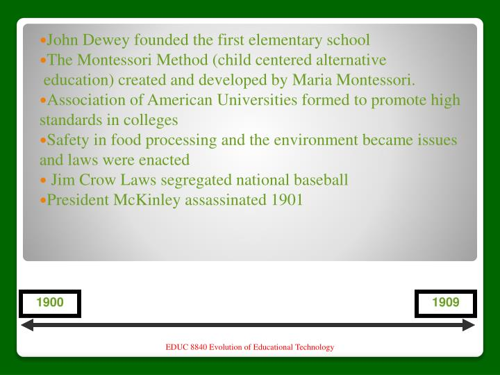 John Dewey founded the first elementary school