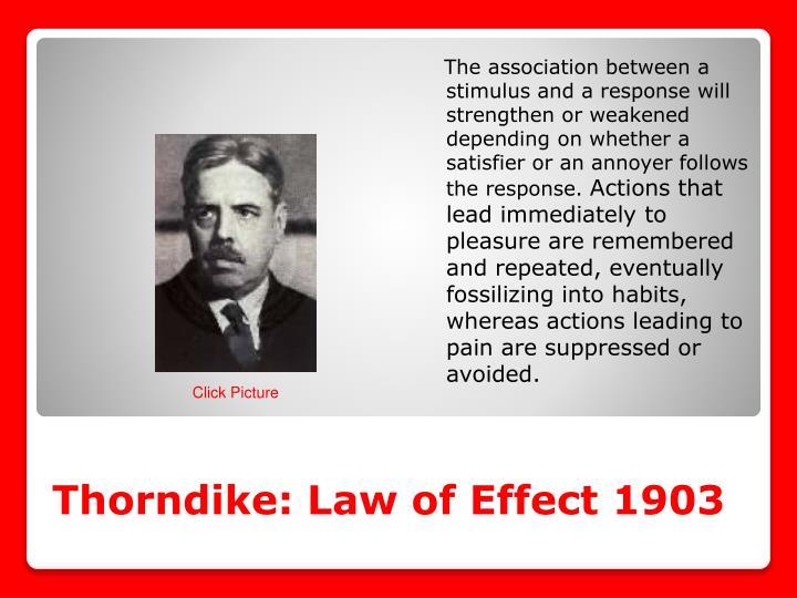 Thorndike: Law of Effect 1903