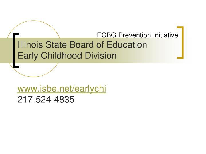 ECBG Prevention Initiative