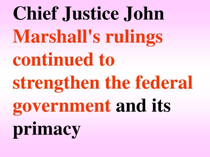 Chief Justice John