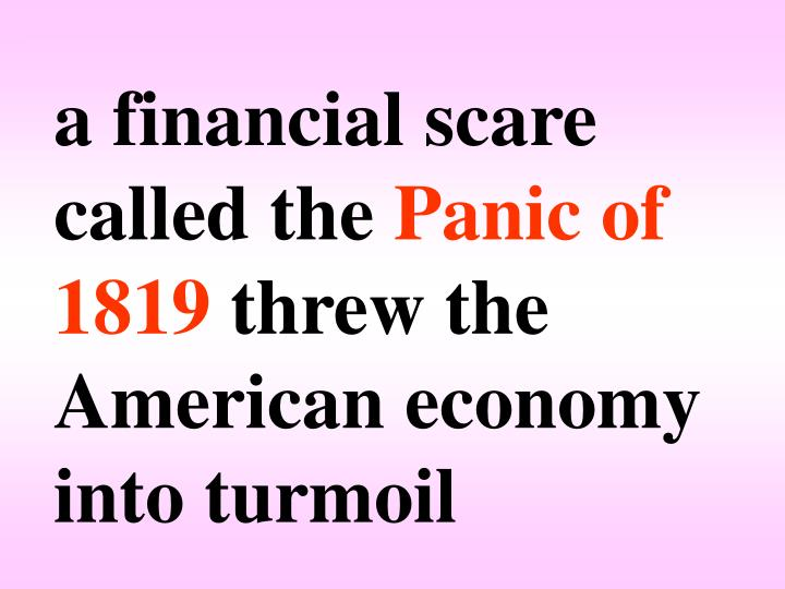 a financial scare called the