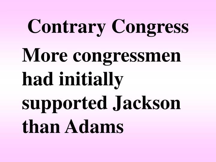 Contrary Congress