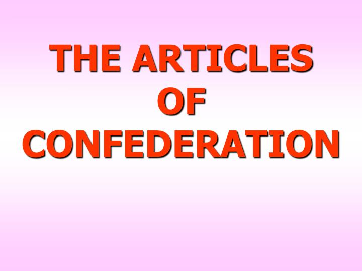 THE ARTICLES