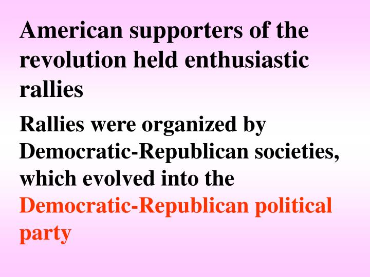 American supporters of the revolution