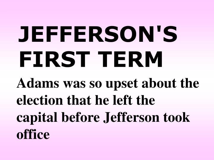 JEFFERSON'S FIRST TERM