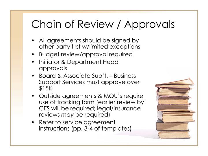 Chain of Review / Approvals