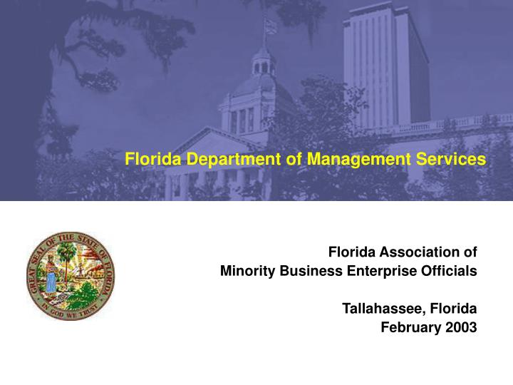 Florida Department of Management Services