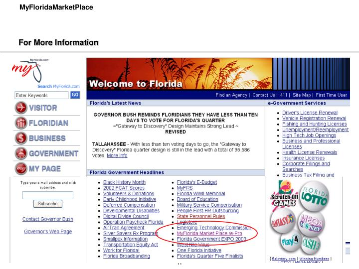 Learn more about MyFloridaMarketPlace at
