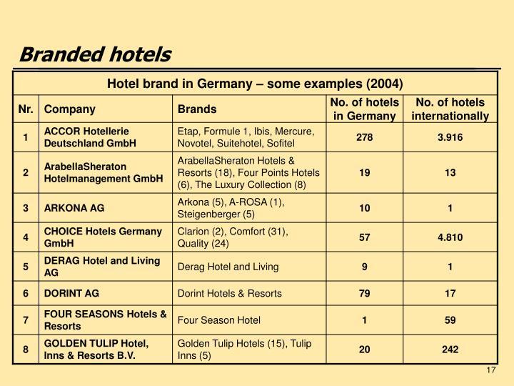 Branded hotels