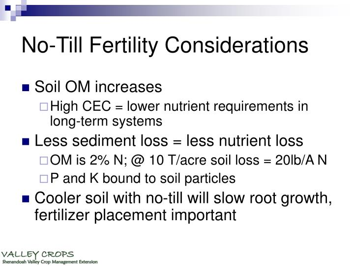 No-Till Fertility Considerations