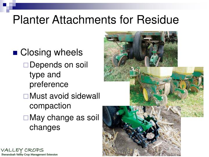 Planter Attachments for Residue