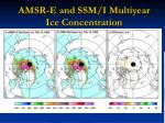 amsr e and ssm i multiyear ice concentration