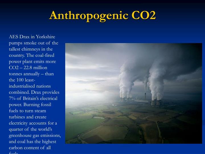 Anthropogenic CO2