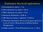 estimates sea level equivalence