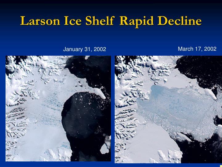 Larson Ice Shelf Rapid Decline