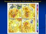 seasonal trends in the nh surface temperature