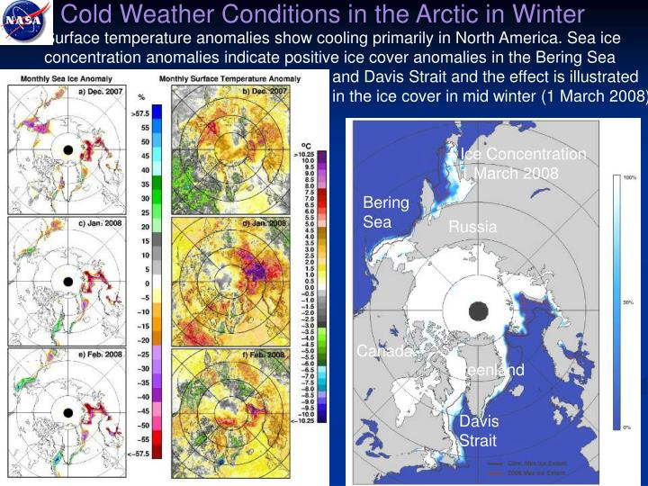 Cold Weather Conditions in the Arctic in Winter