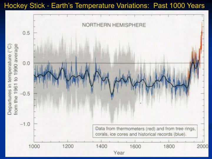 Hockey Stick - Earth's Temperature Variations:  Past 1000 Years