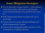 some mitigation strategies