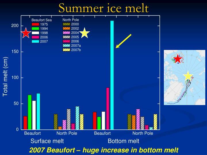 Summer ice melt