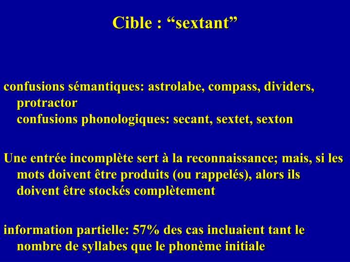 "Cible : ""sextant"""
